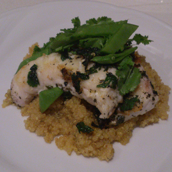 Red snapper on quinoa recipe