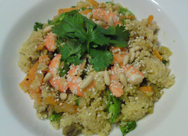 Cous Cous and Quinoa Prawns