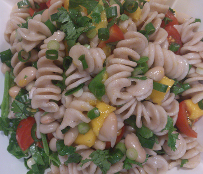 Mango and vegetable pasta recipe